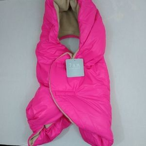 Women's 7am S enfant fluffy neon pink baby carrier